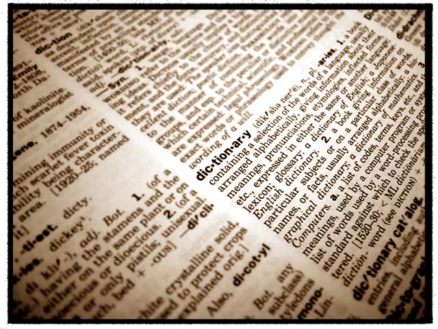 Photo of a Dictionary showing the word 'dictionary' via Kingdom of Style
