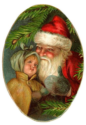 Vintage-santa-and-child