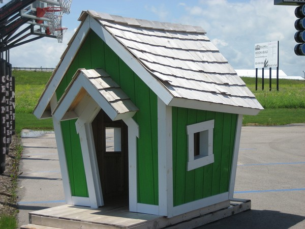Kids Crooked House, green (1)