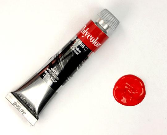 Acrylic-colour-carmine