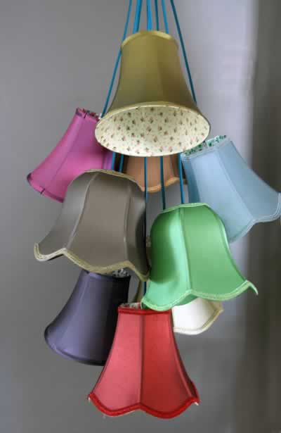 Traditional lampshade cluster light 9 lamp shades 6000 p 1 mozeypictures Choice Image