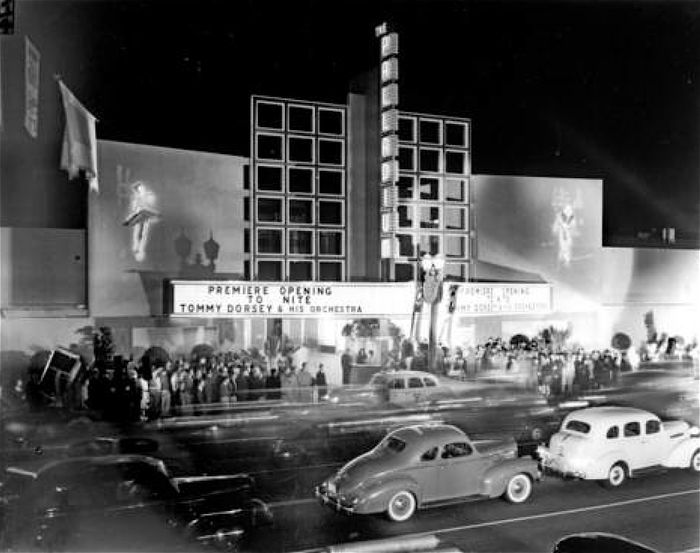 Palladium Sunset Blvd Gower and Vine 1940s