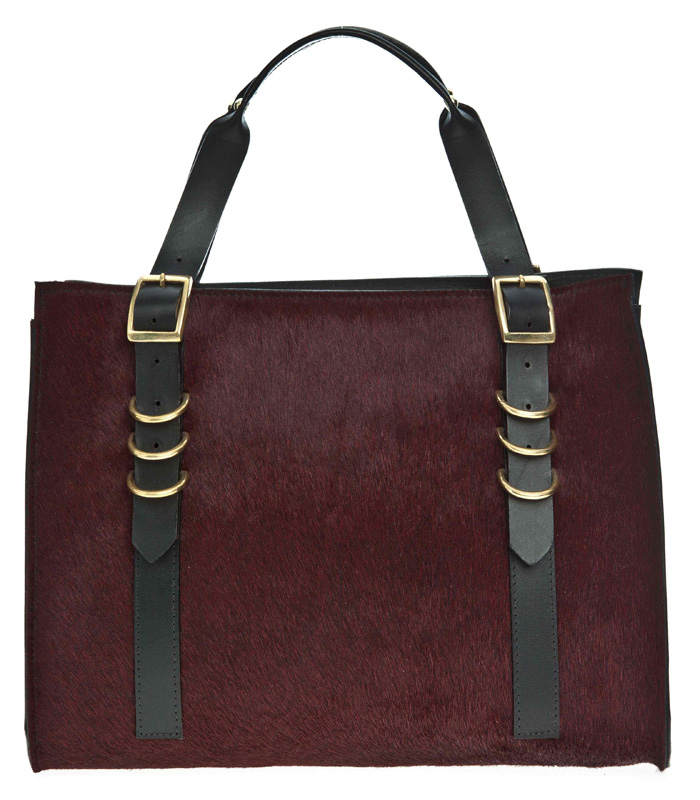 Danielle foster Finn burgundy pony skin £440 at BENGTfashion.com