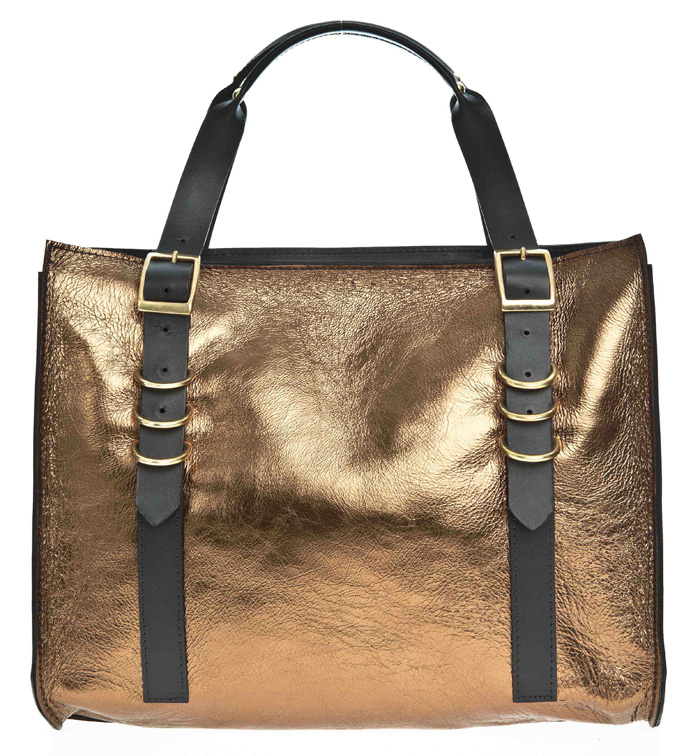Danielle Foster Finn bag in bronze leather £440 at BENGTfashion.com