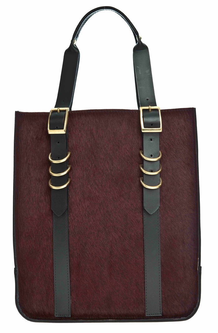 Danielle Foster Kelly Tote in burgundy pony skin £399 at BENGTfashion.com