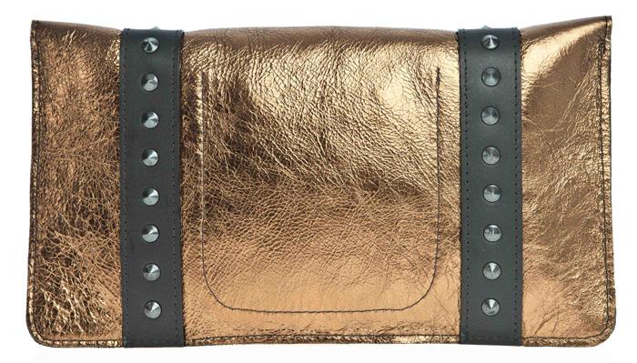 Danielle Foster Frankie £190 bronze clutch at BENGTfashion.com