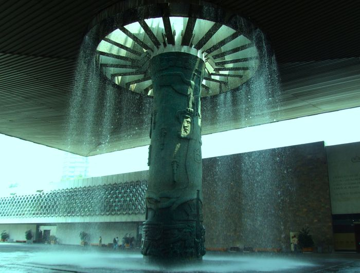 Anthropology Museum Fountain in Mexico City