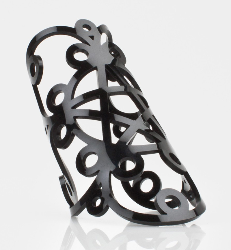 Islynyc-black-pentagram-cuff-a