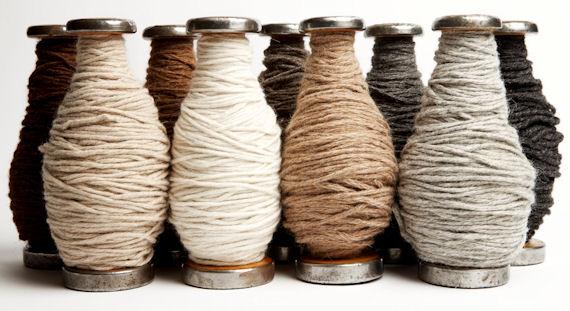 British natural wool yarn