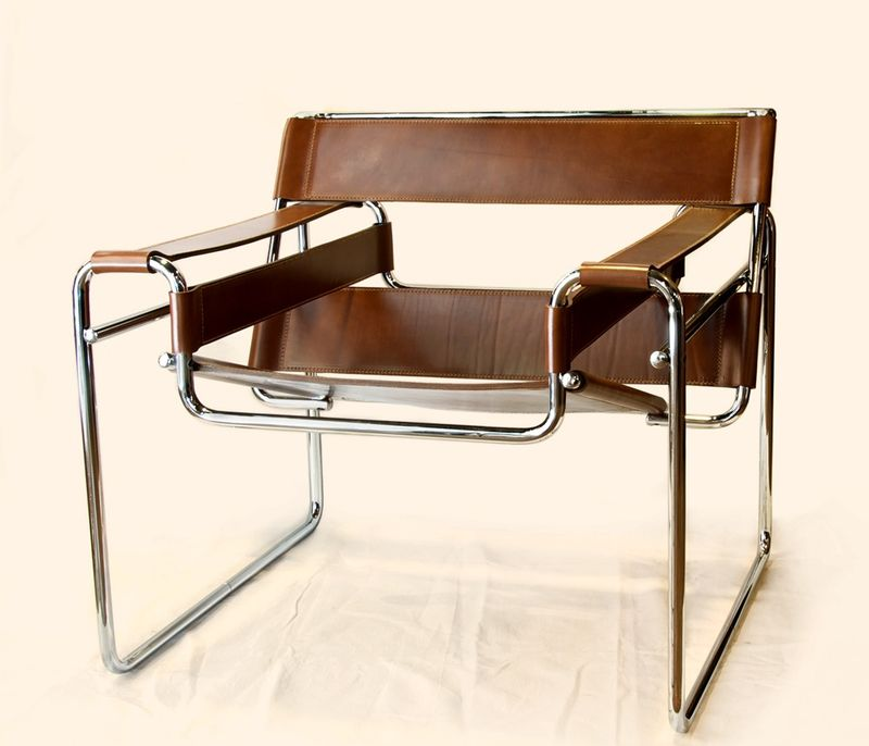 "Marcel-Breuer-""Wassily""-chair-in-brown-leather"