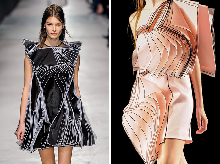 Christopher Kane's fall 2014 origami