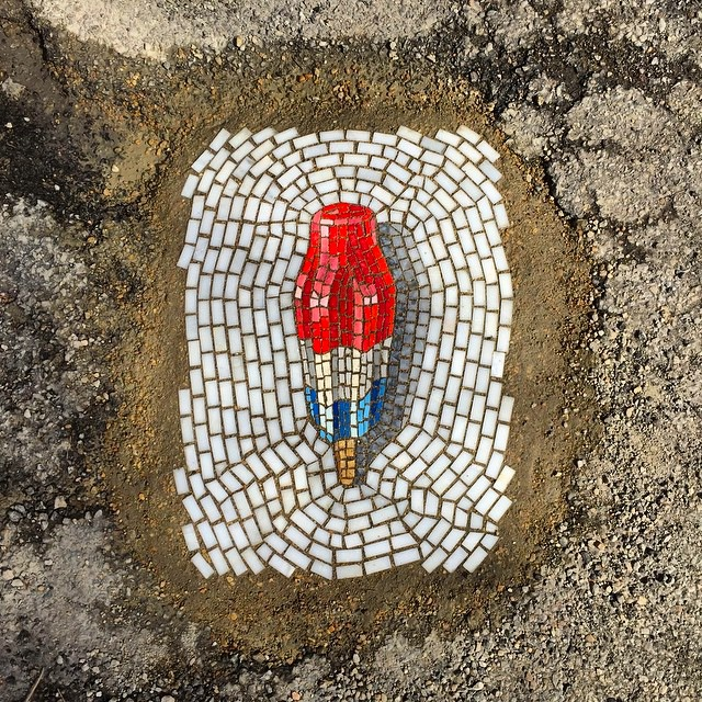 Street-mosaic-pothole-ice-cream-jim-bachor-1