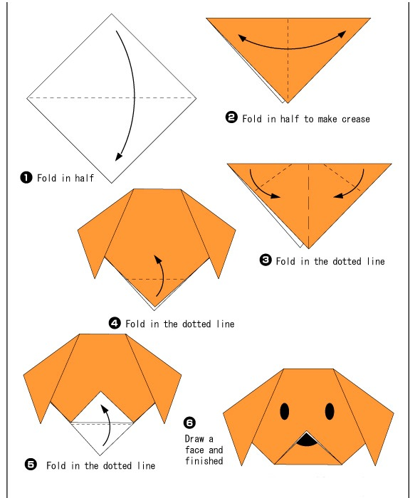 Origami-hond