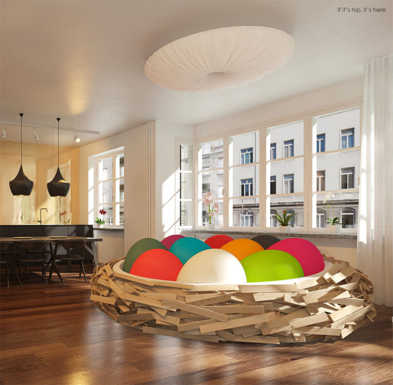 Birdsnest-with-solid-colored-egg-poufs-IIHIH